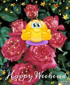 Kissy Happy Weekend kiss weekend smiley weekend quotes happy weekend weekend images weekend gifs weekend animations
