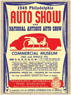 Antique Car Print - 1949 AACA Handbill-Tap The link Now For More Inofrmation on Unlimited Roadside Assitance for Less Than $1 Per Day! Get Free Service for 1 Year.