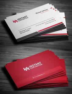 Corporate Business Card #businesscard #psdtemplate #visitingcard #printready #elegantdesign #branding