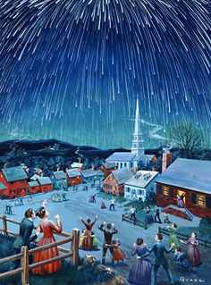 """1833 """"When the Stars Fell"""" is included on the Adventist timeline of End Time Events.  I remember this colorful illustration in which the artist caught the sense of awe of an amazing event.  http://www.ellenwhite.info/books/ellen-g-white-book-great-controversy-gc-18.htm"""