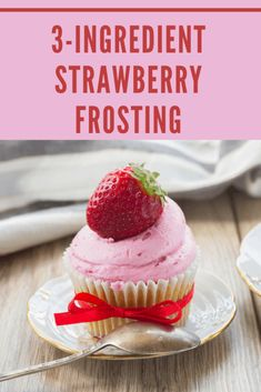This whipped strawberry frosting is best served the day it's made. Strawberry Frosting Recipes, Strawberry Pudding, Icing Recipes, Best Dessert Recipes, No Bake Desserts, Cream Recipes, Cod Recipes, Ramen Recipes, Turkey Recipes