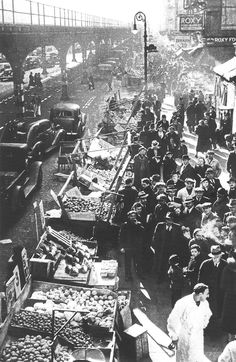 Hell's Kitchen market 1937. Don't lose your history. Preserve old photos with Pic Scanner app for iPhone and iPad