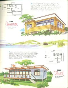 Small House Plans, House Floor Plans, House Design Drawing, Model House Plan, Vintage House Plans, Vintage Architecture, Sims House, River House, Cabin Plans