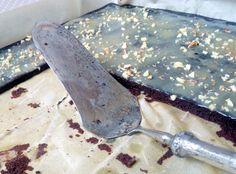 dýňové brownies s karamelovou polevou a vlašskými ořechy