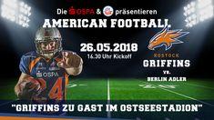 Am 26. Mai empfangen die Rostock Griffins, die in der 2. Bundesliga der German Football League spielen, erstmalig einen Gegner im Ostseestadion. Dank der Unterstützung der OSPA und des F.C. Hansa wird das Heimspiel der Rostock Griffins gegen die Berlin Adler vor großer Kulisse ausgetragen.