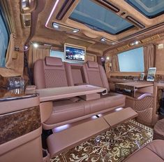 Luxury Van, Luxury Life, Kombi Home, Lux Cars, Top Luxury Cars, Van Interior, Luxury Homes Dream Houses, Best Classic Cars, Fancy Cars