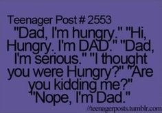 My dad does this!