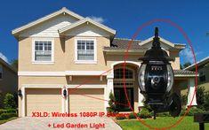 Wireless HD 1080P Hidden IP Camera LED Garden Lights