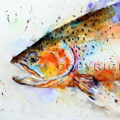 Watercolor Fish, Watercolor Animals, Watercolor Paintings, Watercolor Paper, Tattoo Watercolor, Koi, Guache, Fish Print, Colorful Fish