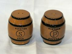 """Grasslands Road Meritage Wine Barrel Salt & Pepper Holders Set 469488 by Grasslands Road. $9.75. Dishwasher and food safe.. 2.5"""" tall x 1.5"""" round each.. Real cute salt and pepper shakers shaped like vintage wine barrels.. Part of the Meritage pattern line of Grasslands Road.. Perfect for your bar area.. Very cute ceramic salt and pepper shaker set, shaped like vintage wine barrels. Dishwasher safe."""