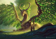 Forest Creatures, Mythical Creatures Art, Mythological Creatures, Magical Creatures, Cute Fantasy Creatures, Fantasy Forest, Dark Fantasy Art, Fantasy Artwork, Elfen Fantasy
