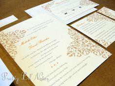 Elegant River Custom Color Wedding Invitation Set by PrEttYLiLNoTeS