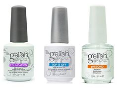 Gelish Gel LED Foundation Base Coat  Top It Off Coat  pH Bond 15 mL Polish Set >>> Find out more about the great product at the image link.Note:It is affiliate link to Amazon.