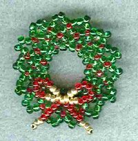Holiday Wreath Pin by Jeanette Shanigan