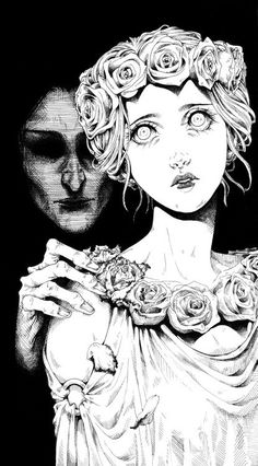 & PERSEPHONE The mating of Hades And Persephone is such a primal story, filled with conquest, hunger, desperation, and love … . repmekevets: outlw: Persephone and Hades Arte Horror, Horror Art, Disney Art Drawings, Hades Und Persephone, Manga Art, Anime Art, Look Wallpaper, Illustration Art Nouveau, Creepy Art