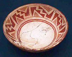 Mimbres Red-on-white, ca. 900-1100 A.D., Mimbres, New Mexico. Logan Museum of Anthropology.