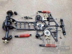 Hanging margin Dual disc rear axle steering wheel before conversion kit karting accessories ATV