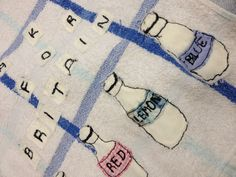 Charlotte Morley;  mixed media stitch textiles