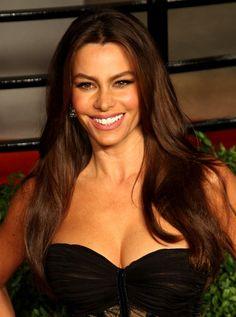 Sofia Vergaras long layered hairstyle