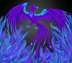 Purple Phoenix ~ by on deviantART Phoenix Images, Phoenix Art, Phoenix Rising, Fantasy Creatures, Mythical Creatures, Dragons, Phoenix Tattoo Design, Tattoo Phoenix, Cool Tats