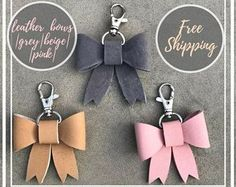 A great shop with personalized leather handmade gifts by Leather Key Holder, Leather Keychain, Leather Earrings, Diy Keychain, Leather Jewelry, Leather Craft, Keychains, Cocktails Vodka, Blue Curacao