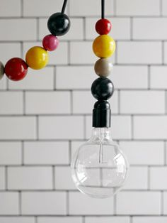 Bauble hanging light. Possible DIY