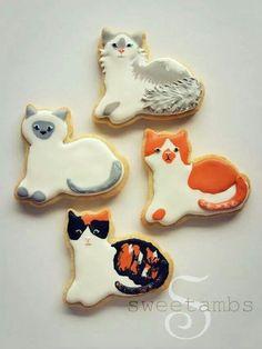 SweetAmbs tutorial: Cat cookies