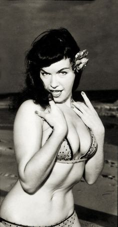Pin-Up Icon Bettie Page Vintage Charles Basson Bad Girl Bikini Photograph Le Burlesque, Vintage Burlesque, Nashville, Bettie Page Photos, Basson, Pin Up Photos, Inked Magazine, Pin Up Models, Belleza Natural