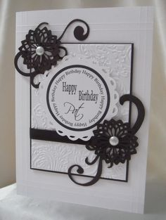 cardmaking...Black and White Craft card by: Mando