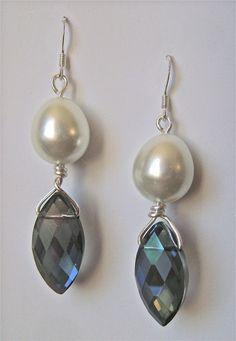 Pearl Drop Briolette Earrings | AllFreeJewelryMaking.com