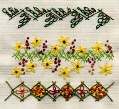 A few embroidery borders