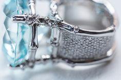 Mish New York Bili Bili Ring with Aquamarine set in 18k white gold and white diamond pavé | Mishnewyork.com #wishlist #mishnewyork