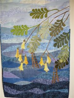 Kowhai in Spring - Quilting Daily