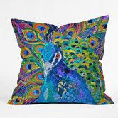 Elizabeth St Hilaire Nelson Cacophony Of Color Duvet Cover - DENY Designs print to order Peacock Decor, Peacock Art, Peacock Feathers, Modern Throw Pillows, Decorative Throw Pillows, Throw Blankets, Collages, Bird Shower Curtain, Shower Curtains