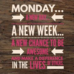 How do you see Monday?  I see it as a new beginning and another chance to live out my passion to make a positive impact in the lives of others. Make an intentional choice to make Monday AWESOME!  #tgim #monday #newweek #makeapositiveimpact #beawesome #makemondayawesome #goalcrusher #liveyourpassion #jamwithstephaniegrace #honeyberriesteam