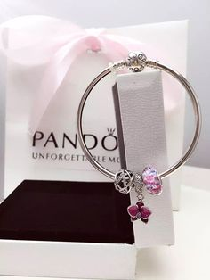 50% OFF!!! $119 Pandora Bangle Charm Bracelet Purple. Hot Sale!!! SKU: CB01864 - PANDORA Bracelet Ideas