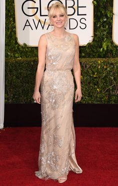Golden Globes 2015 Anna Faris in Reem Acra   blog.theknot.com