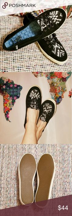 Vans Aztec slip-ons Solana aztec tribal suede surf siders new w/o box Vans Shoes Sneakers