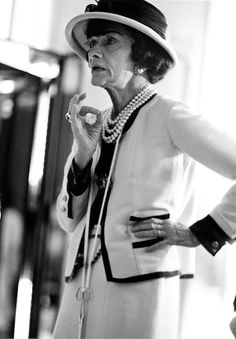 Coco Chanel in her atelier photographed by Douglas Kirkland, 1962.