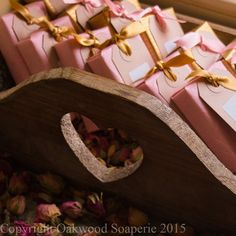 50 Natural soap wedding favours, custom made and wrapped to your requirements. by OakwoodSoaperie on Etsy Handmade Wedding Favours, Soap Wedding Favors, Handmade Soaps, Confetti Cones, Paper Ribbon, Ribbon Colors, Perfume Oils, Pure Essential Oils, Goat Milk