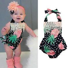 Style: FashionMaterial: COTTONGender: Baby GirlsPattern Type: PrintSleeve Length(cm): SleevelessCollar: O-NeckModel Number: Baby RomperFit: Fits true to size, take your normal sizeItem Type: BodysuitsDepartment Name: Baby Baby Girl Romper, Baby Girl Shoes, Baby Girls, Infant Girls, Baby Boots, Pineapple Print, Baby Girl Patterns, Baby Girl Fashion, Bebe