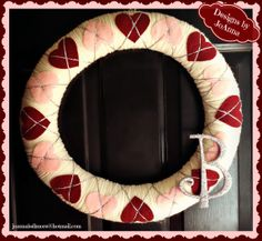 Happy Valentine's wreath by Designs by JoAnna!