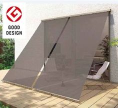 ideas home garden landscape decks Outdoor Shade, Patio Shade, Patio Gazebo, Pergola With Roof, Home Gym Design, House Design, Outdoor Umbrella Stand, Patio Interior, Large Backyard