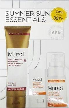 Dr. Murad Summer Sun Essentials - Güneşin Zararlı Etkileri İçin Kofre GüneşKoruma Faktörlü Suya Dayanıklı Nemlendirici Spf 30 ( Cilt ve vücut için ) 125 ml + Spf 35 Güneş Koruyucu ve Nemlendirici Stick C Vitaminli Formül 9 g + C Vitaminli Göz Çevresi BakımKremi Spf 15 15ml