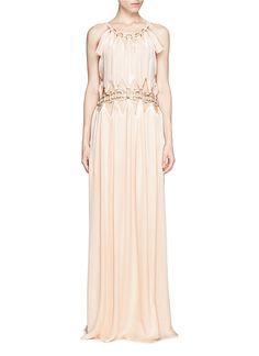 CHLOÉ Chain detail silk georgette maxi dress