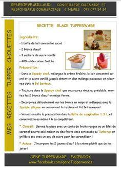 Tupperware - Recette glace