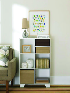 real simple 6cube storage unit in white real simple