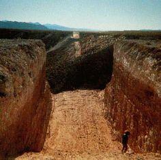 Michael Heizer: Double Negative, Mormon Mesa, 1969-70. Overton, Nevada.