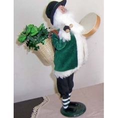 Byers Choice Irish Santa   Doll with Bodhran