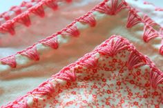 Here's a great online tutorial showing you how to edge a baby blanket in crochet.